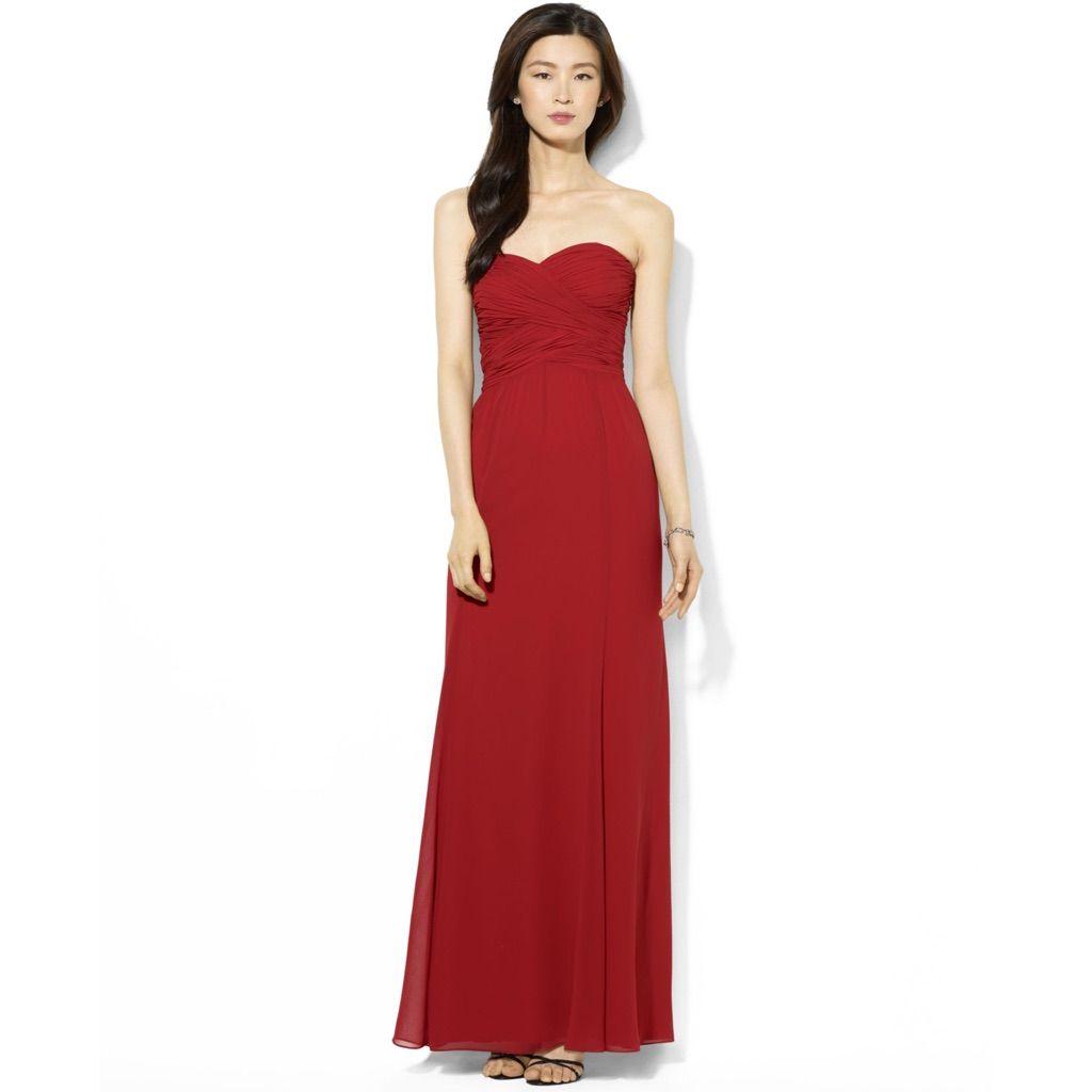 Ruby Red Lovely Lauren Ralph Lauren Dress Products