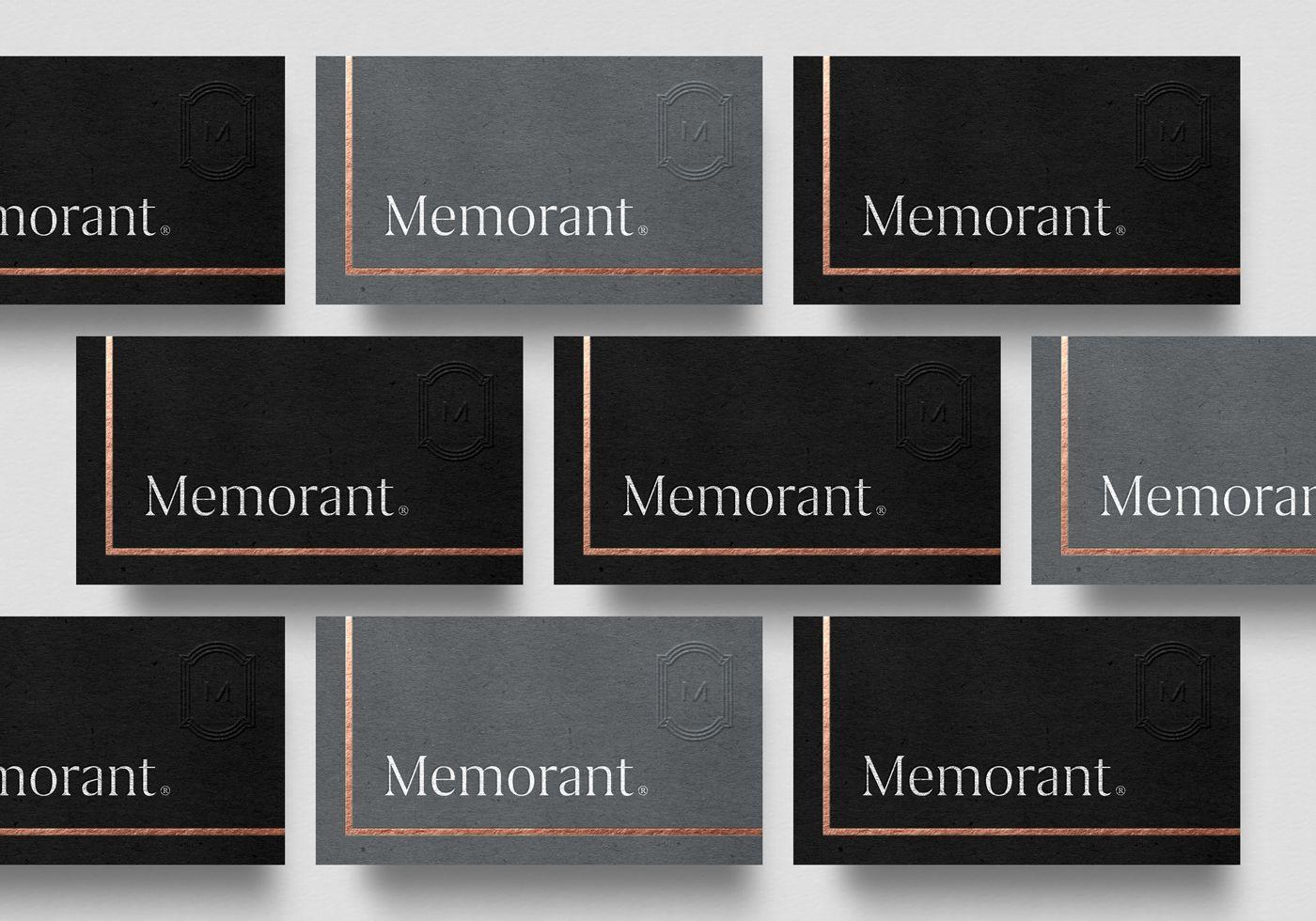 Memorant On Behance Design Pinterest Behance And Business Cards