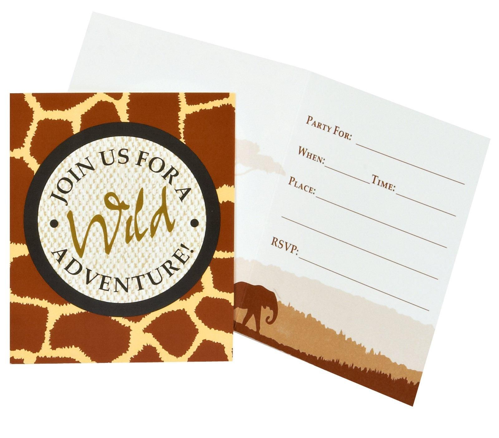 Nice Party Supplies Safari Adventure Party Invitations Just Added