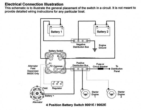 boat dual battery isolator wiring diagram diagram boat wiring Isolator Switch Wiring Diagram