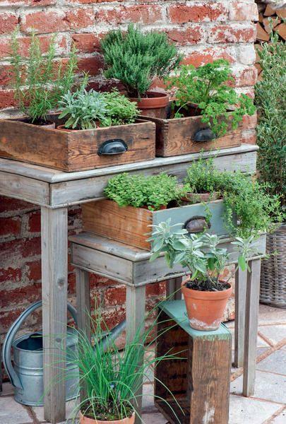 DIY jardin récup
