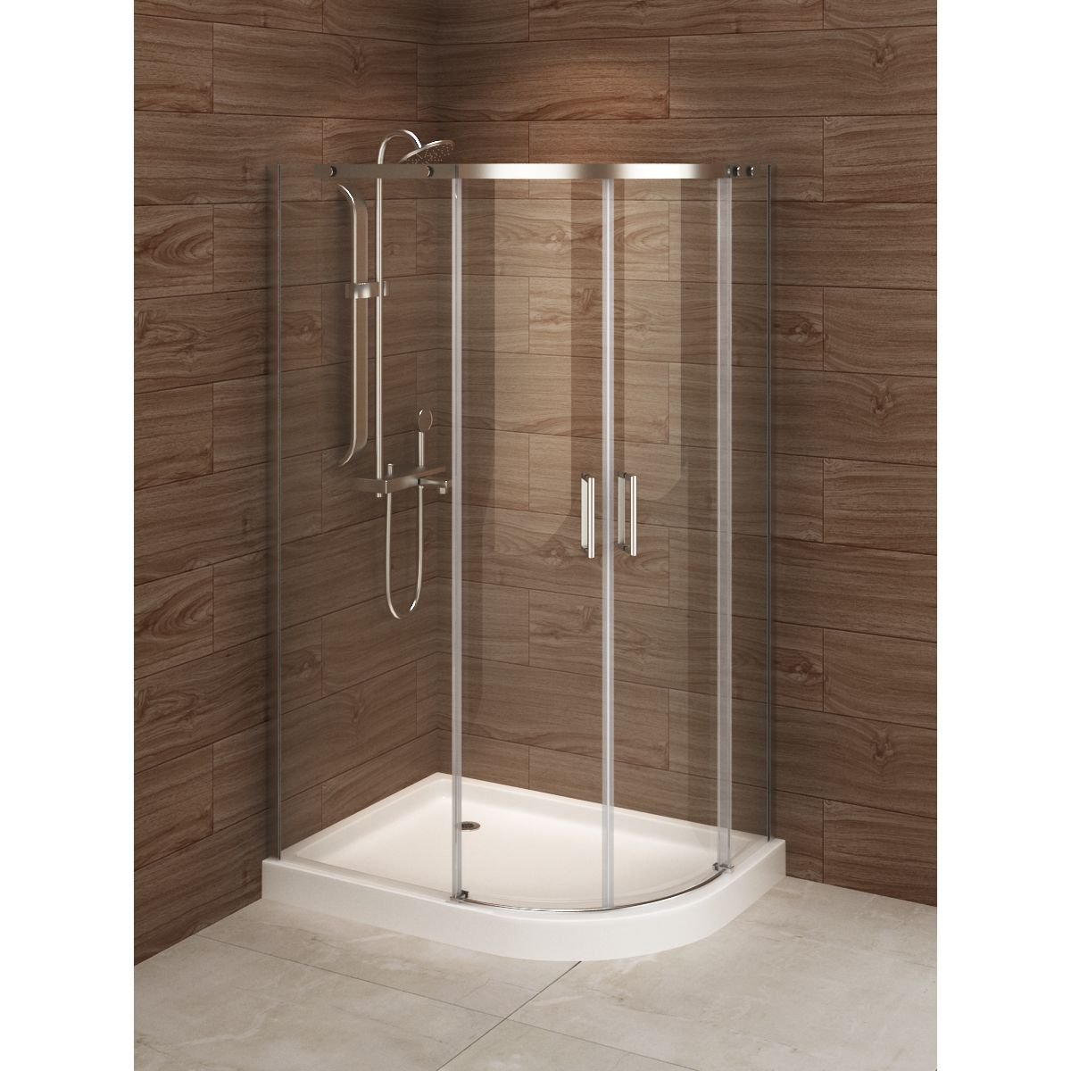 Madrid 48 Inch X 36 Inch Asymmetric Right Opening Corner Shower