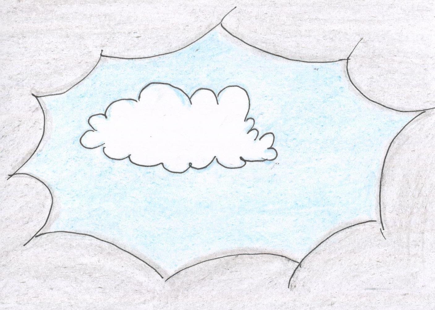 Opowieść o pewnym śnieżnobiałym obłoczku, który bardzo chciał wyjrzeć zza szarych chmur i zobaczyć świat, a miał na to tylko jeden dzień...