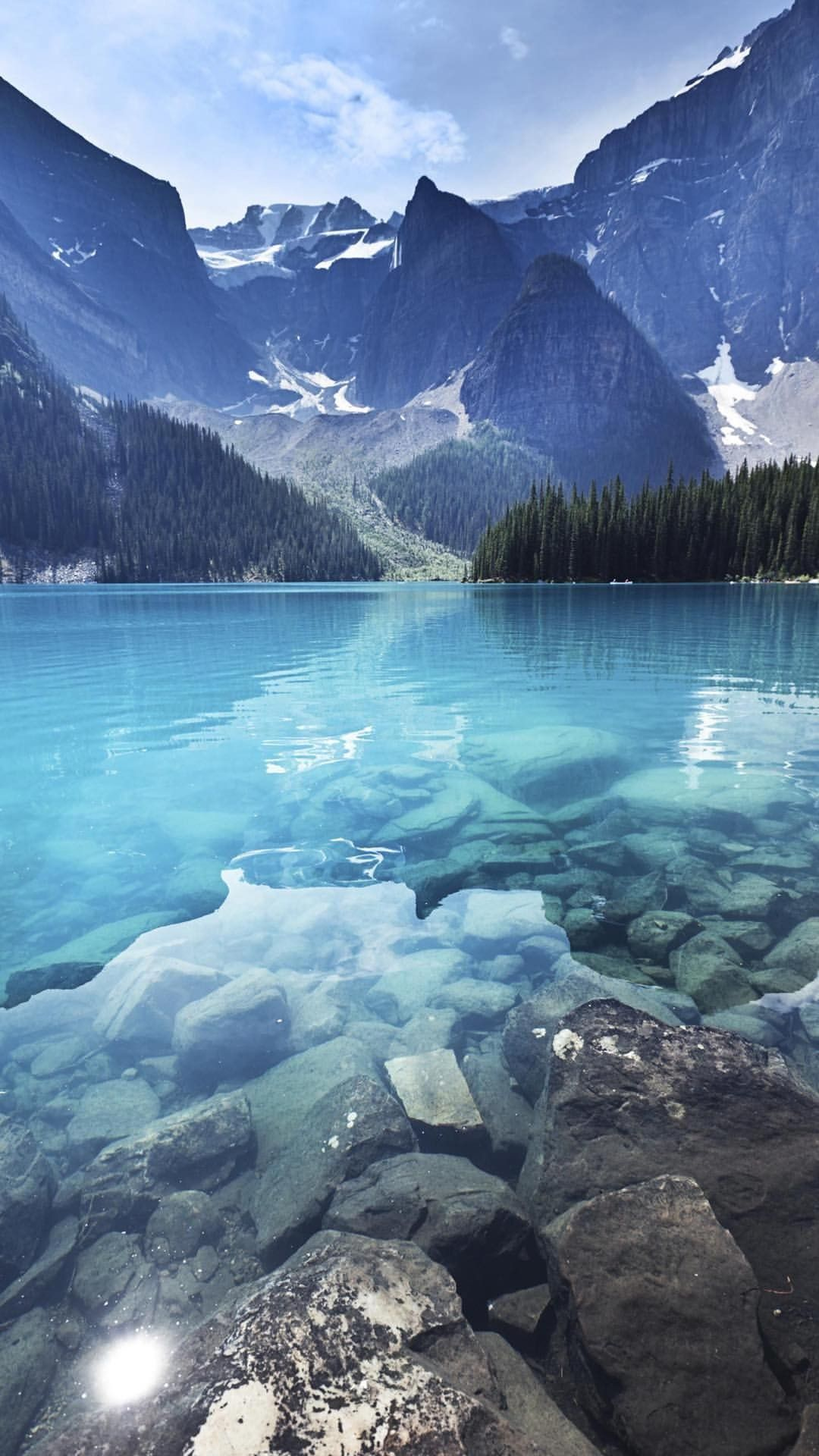 Nature Crystal Clear Water Of A Mountain Lake Calm And Peaceful Beautiful Landscapes Landscape Wallpaper Beautiful Nature