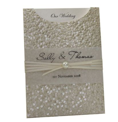 Glamour Pocket - Pebbles Ivory Cream Pearl