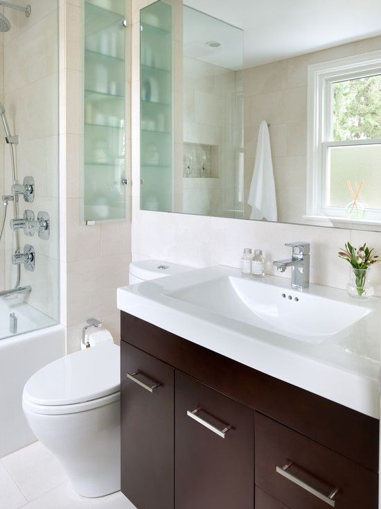 Small space bathrooms dream house pinterest small space bathroom and small spaces - Small bathroom space pict ...