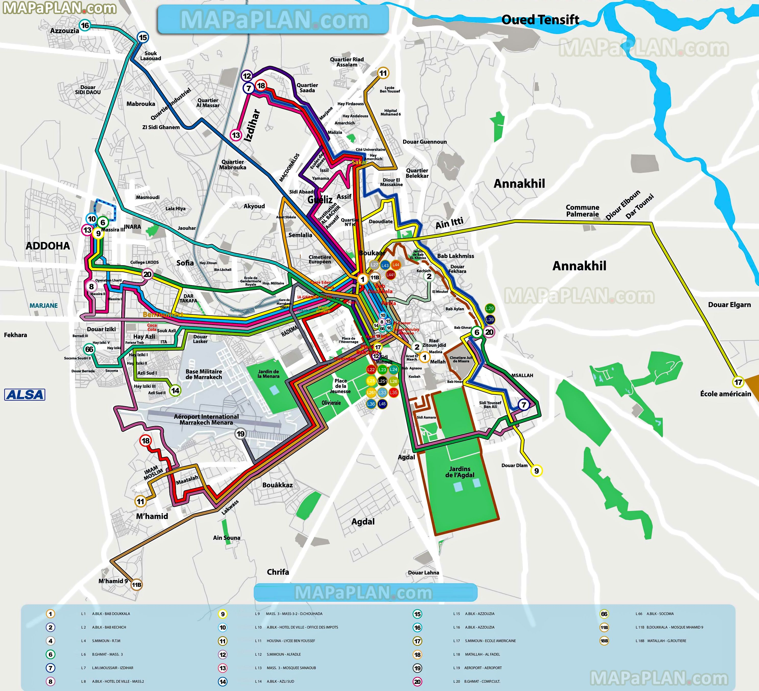 local bus routes lines stops public transport alsa network system