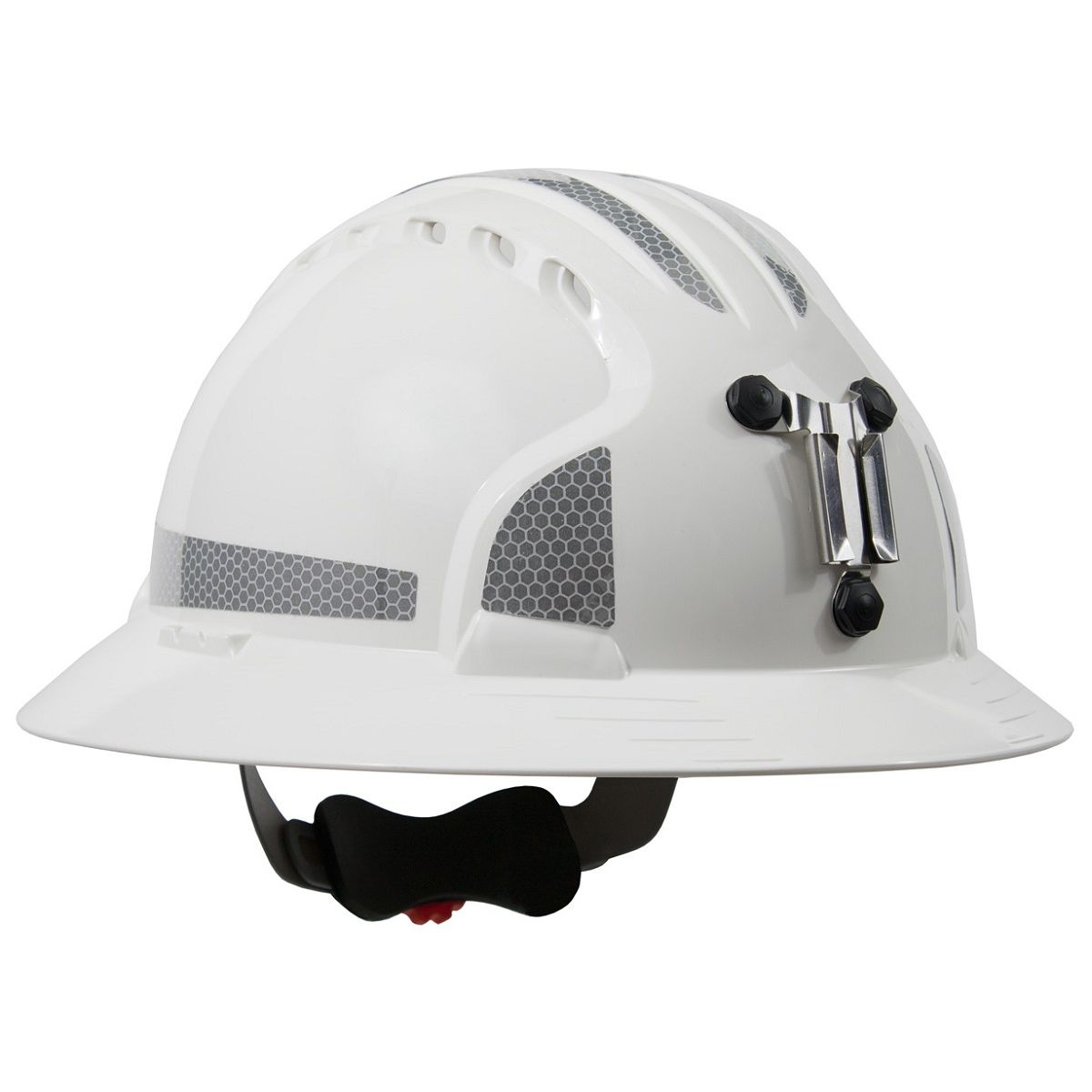 Jsp Evolution 6161mcr2 Deluxe Full Brim Reflective Mining Hard Hat Wheel Ratchet Suspension White Hard Hats Hard Hat Hats