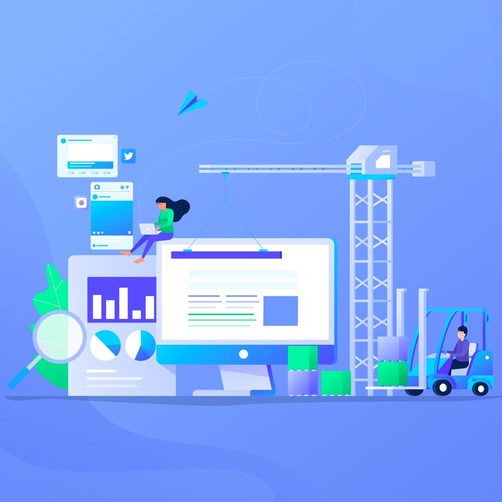 Digital Marketing Flat Design Vol 01 Digital Marketing Flat Illustration Design