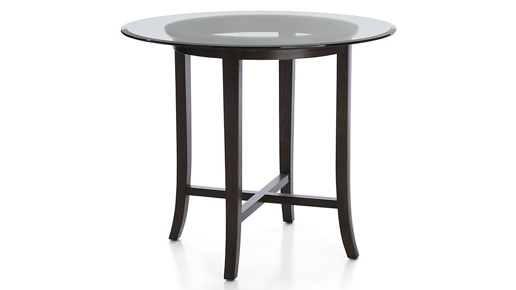 Halo Ebony Round High Dining Tables Crate And Barrel With