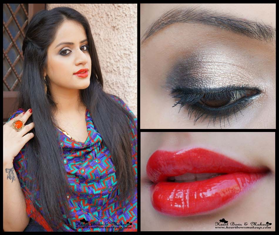 Indian Wedding Party Eye Makeup Step By Tutorial With Maybelline Instaglam Box Red Easy