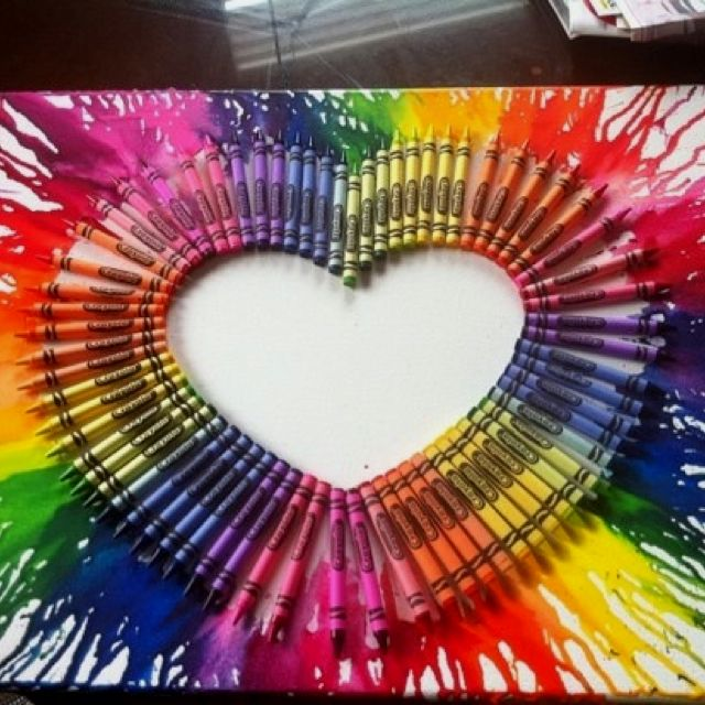 Melted crayon