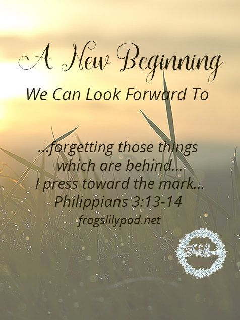 A New Beginning We Can Look Forward To