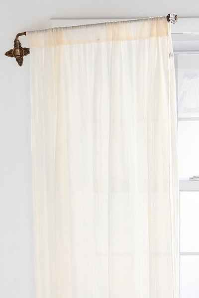 Brass Crisscross Swing Curtain Rod Curtain Rods Curtains With