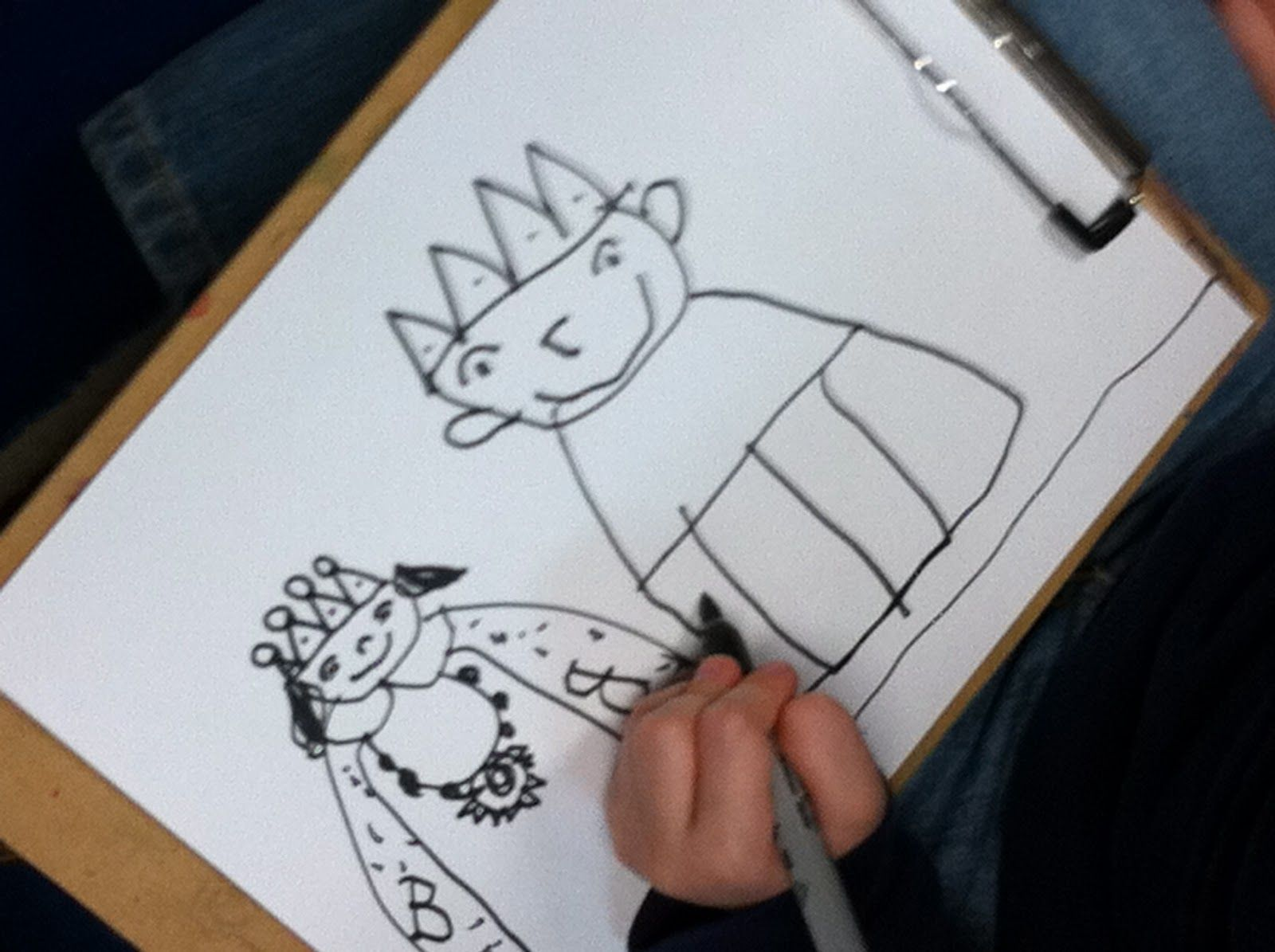 How to Draw a King and Queen | Kindergarten - Fairy Tales | Pinterest