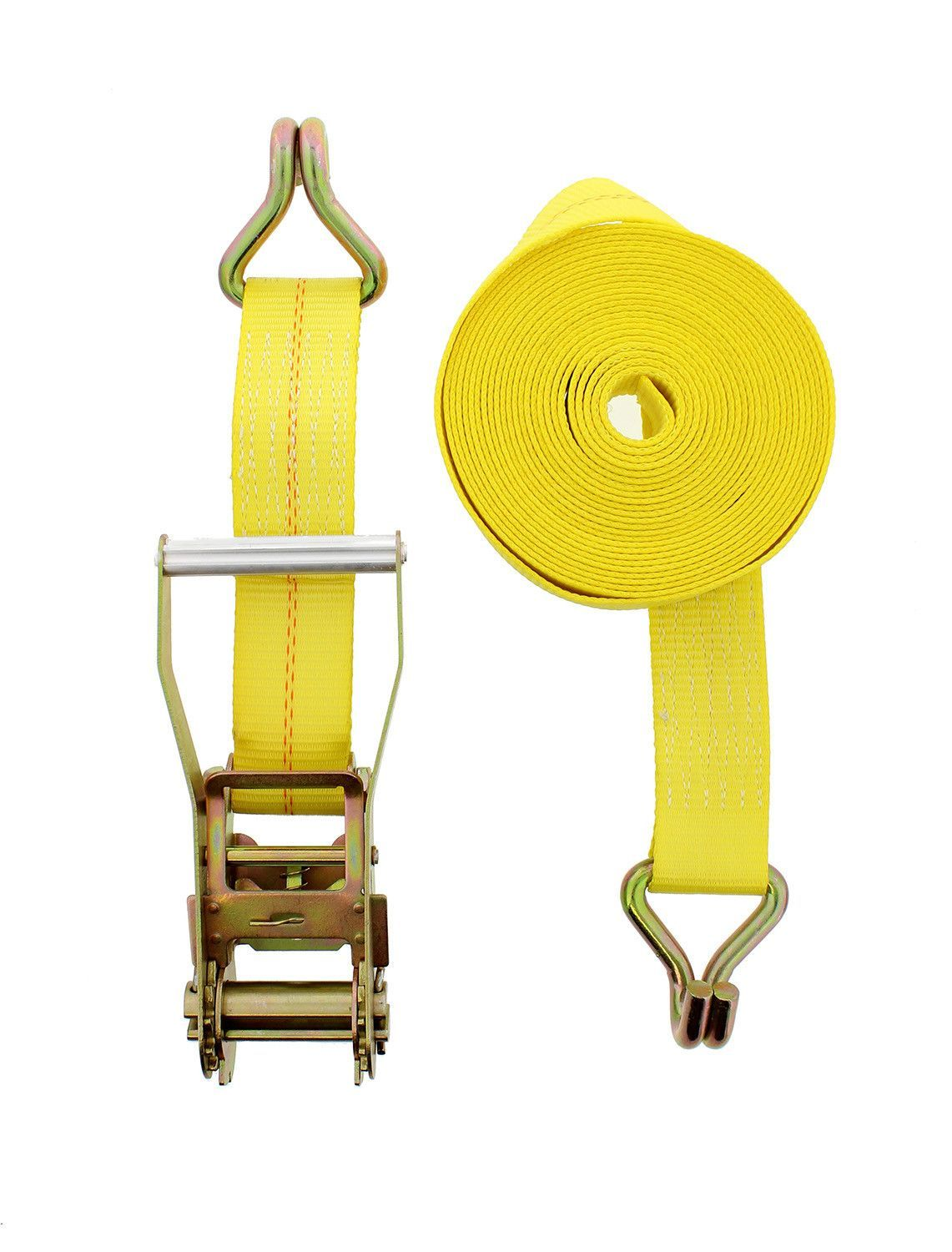 """Easy to Use This Ratchet Tie Down with J Hooks 2"""" x 27"""