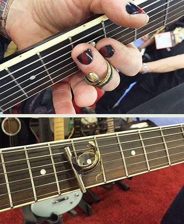 Animal Magnetism The Slidewinder Is A Ring With A Magnetic Bar That Allows You To Use A Slide And Still Bend Your Finger Guitar Gear Guitar Slides Slide Guitar