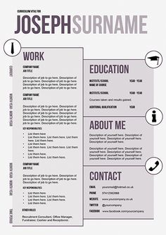 Creative CV Template By Doric Design Spruce Up Your CV And Stand Out From  The Rest!  Unique Resume Templates