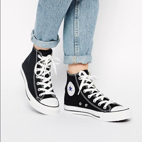 popular stores size 7 hot product Converse Shoes | Black Converse Womens High Top | Color ...