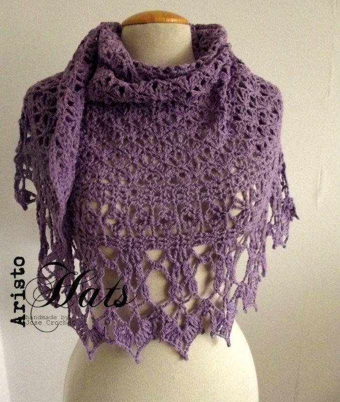 Piquant shawl lila - lilac