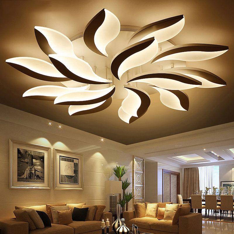 Remote Control Modern Led Ceiling Lights For Living Room Bedroom