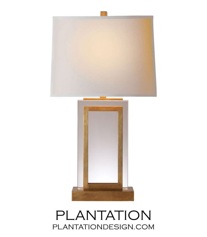 Piazza Crystal Table Lamp Burnished Br Plantation