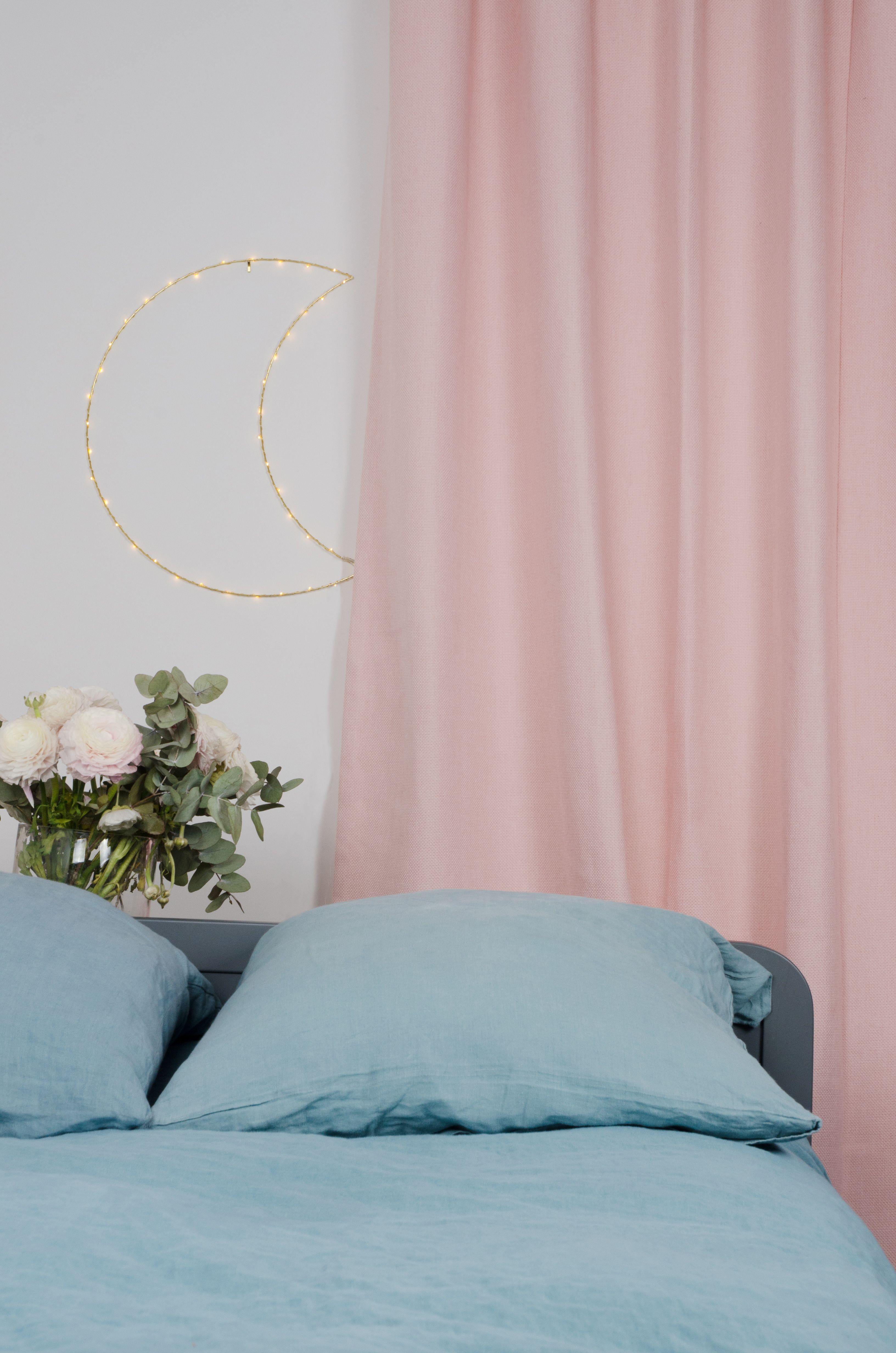 Rideau Velours Rose Poudre Velours Rose Rideaux Chambre Fille Rose