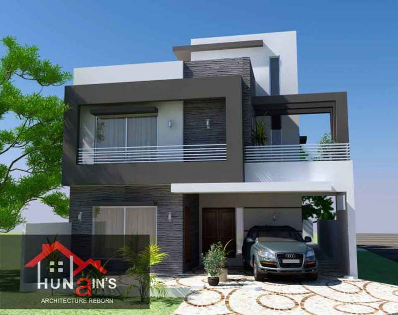 10 Marla Contempoary House Design Architecture 3d Front Elevation 3 Architecture Design Architecture House Modern Farmhouse Design