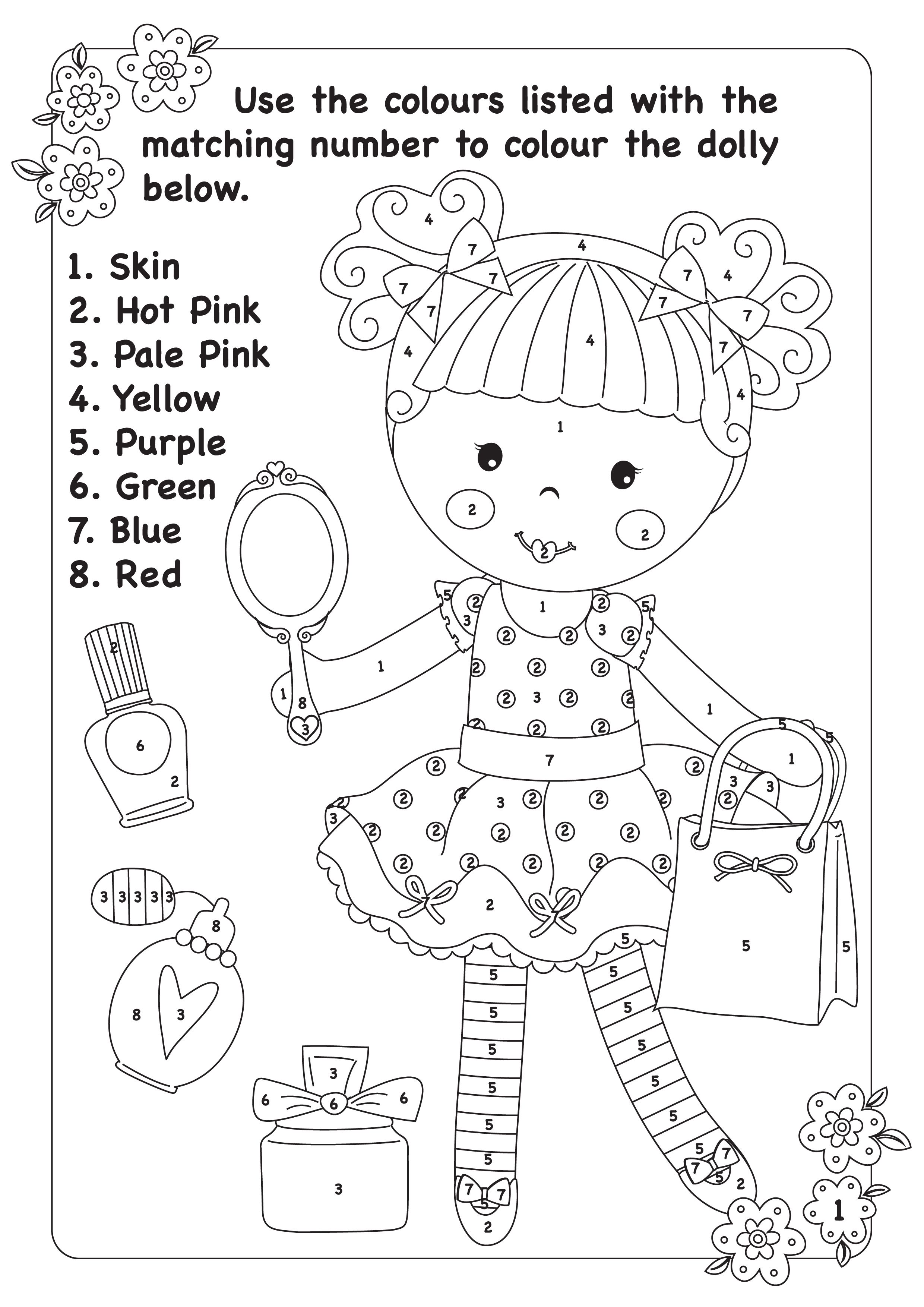 Activity Sheet Colouring Page By Pink Poppy Just Simply