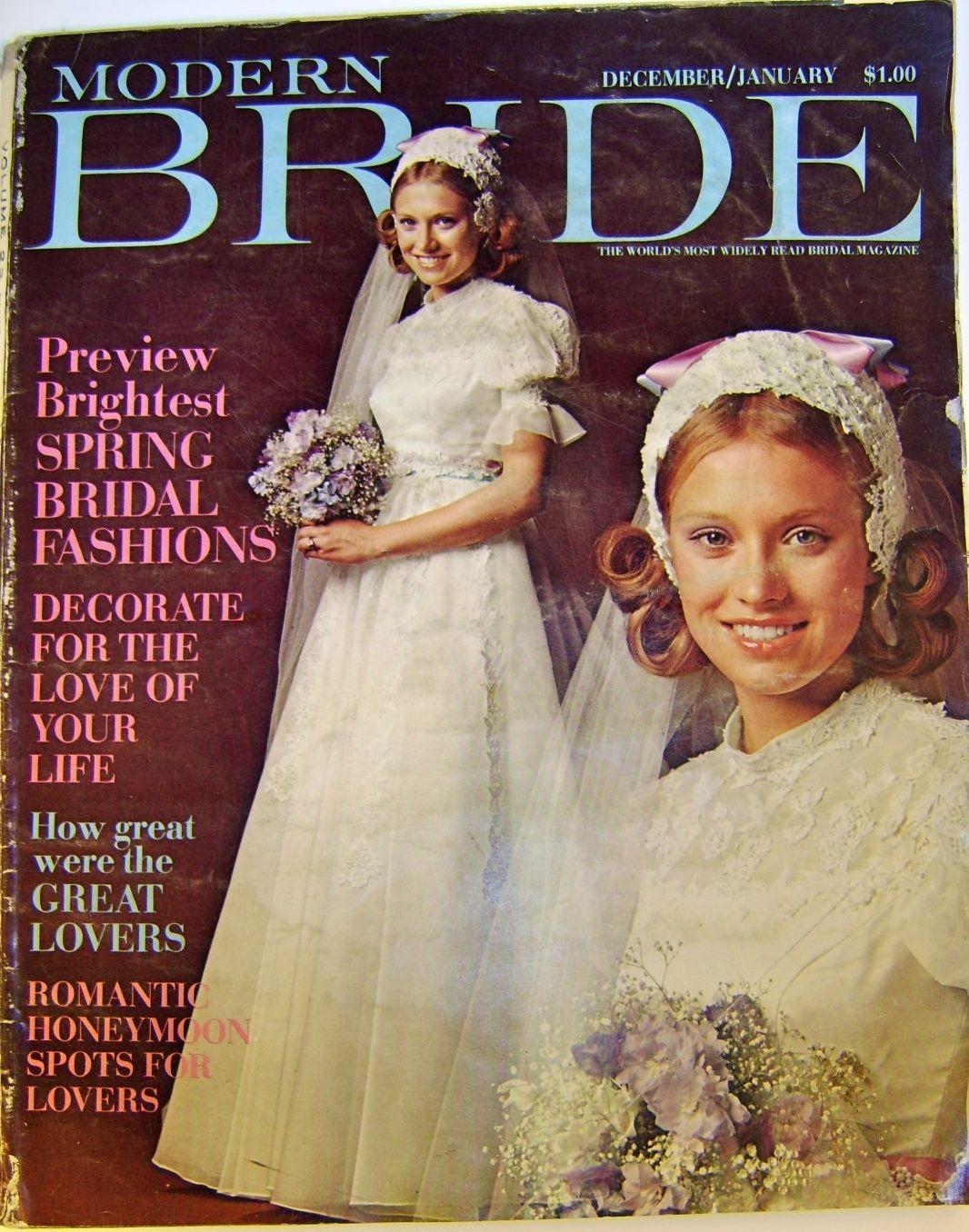 Modern Bride Vintage Magazine December 1971 and January