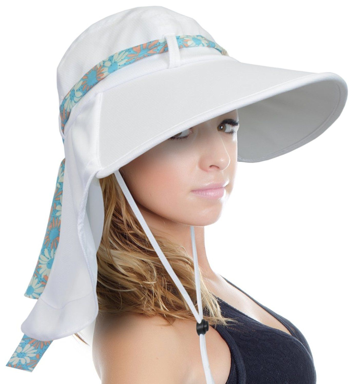 Sun Blocker Women s Sun Hat Large Brim Beach Travel Fishing Hat with Neck  Flap 9f1af9b780