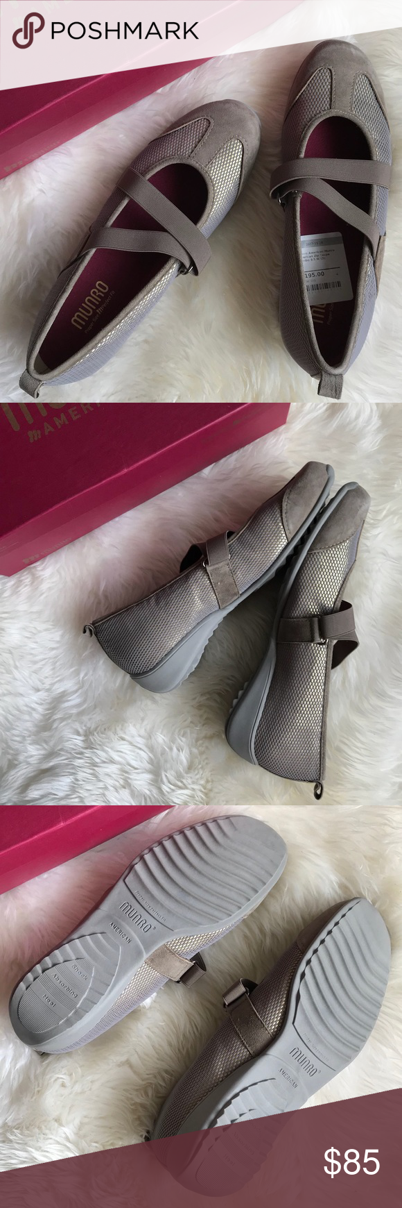 Munro american zip taupe combo shoes