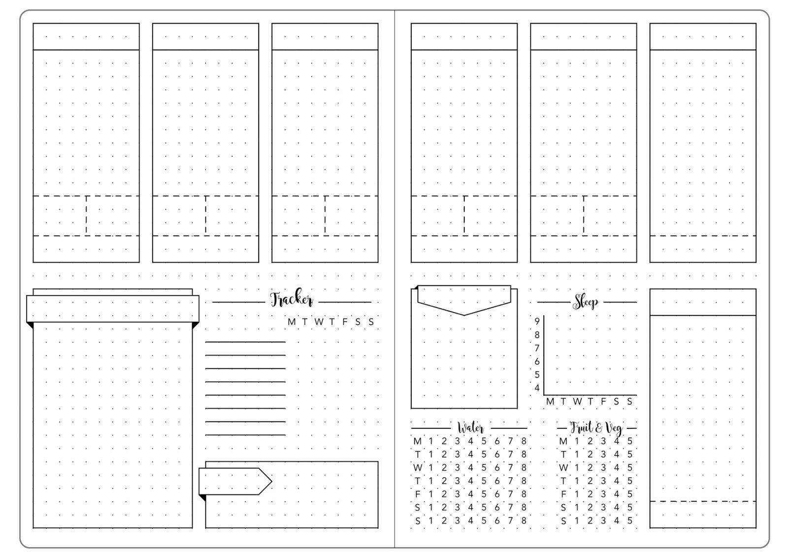 Листы для планера шаблоны распечатать а5