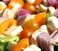 Brochettes multicolores