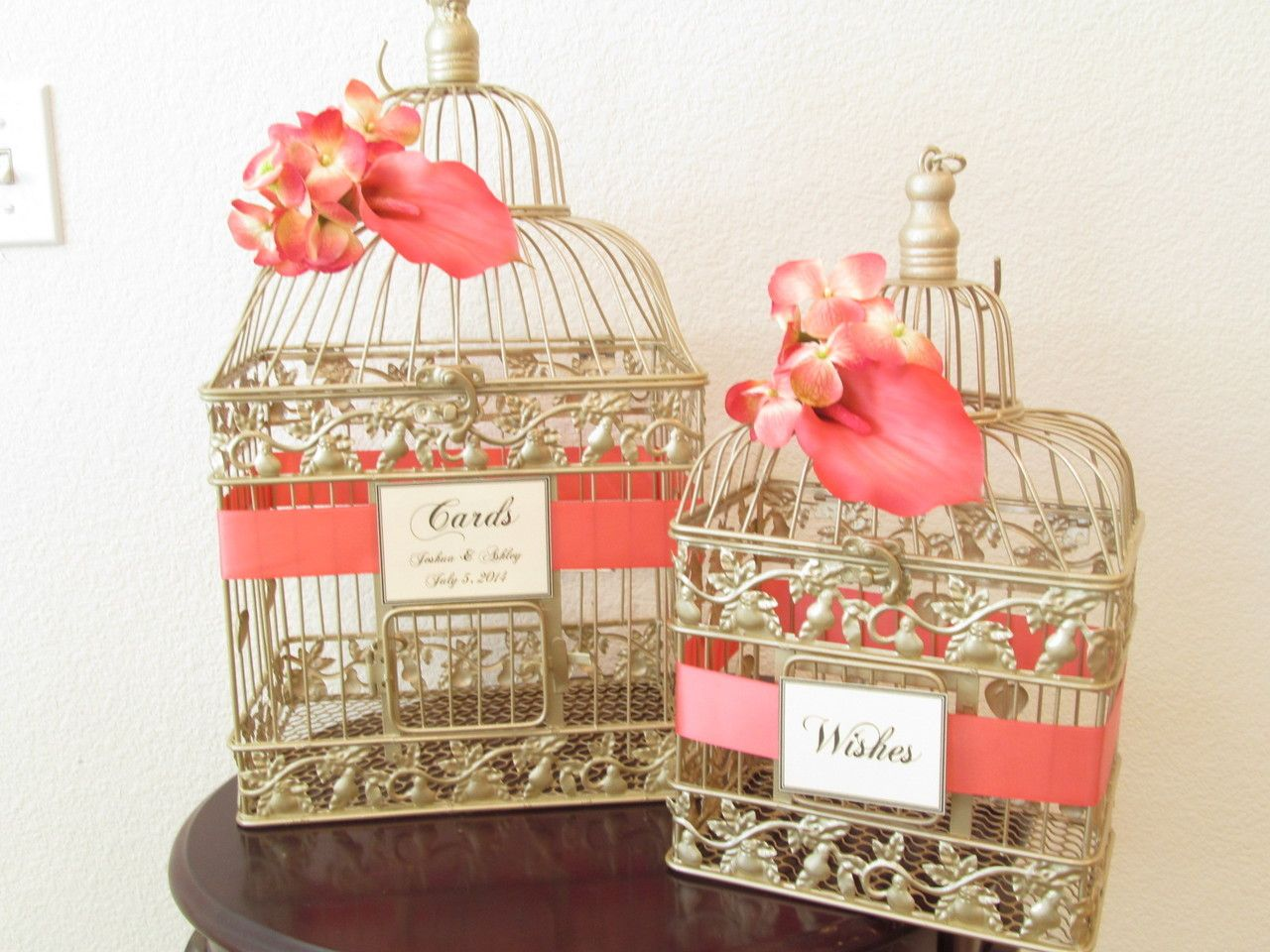 Bird Cage Wedding Card Shop Set Of Birdcage Wedding Cardholders In