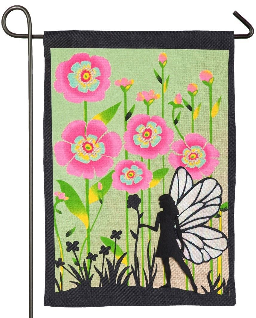 Burlap Garden Fairy Decorative Garden Flag | Flags