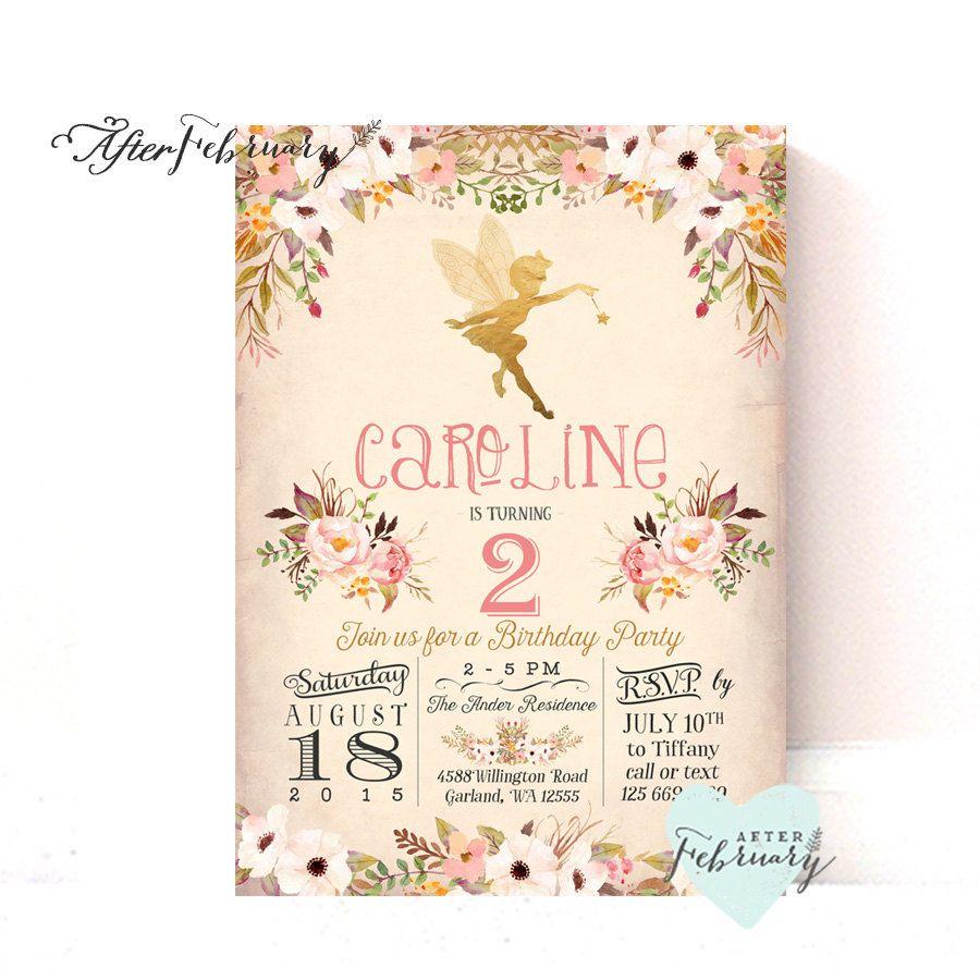fairy birthday invitation fairy