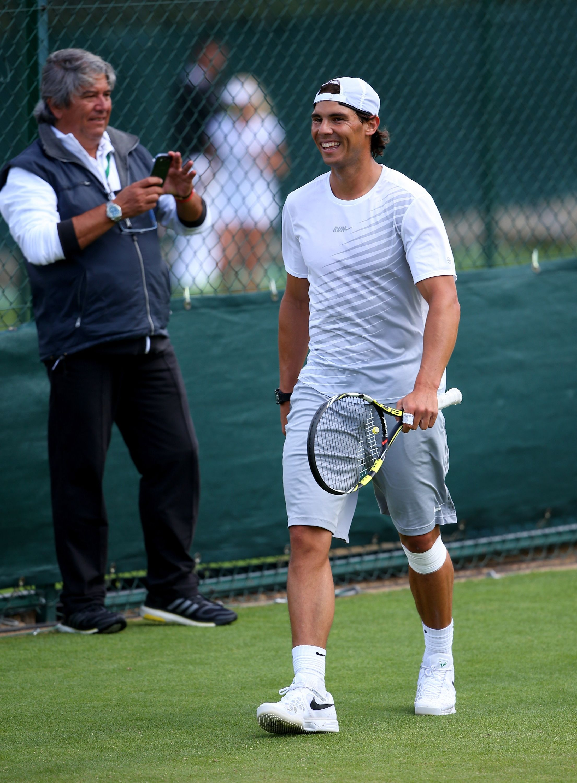 Wimbledon Nadal Sunday Practice Tennis Champion Rafael Nadal Wimbledon 2013