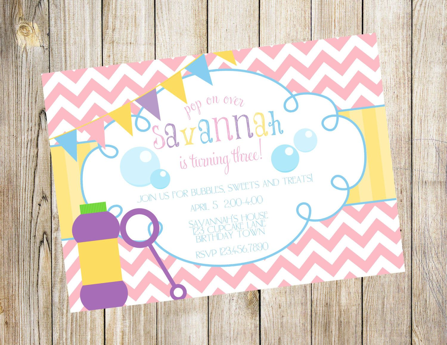 Bubbles Birthday Party Invitation by EmmyJosParties on Etsy, $12.00 ...