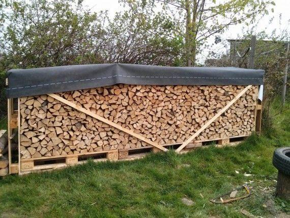Brennholz im Freien lagern holzlager