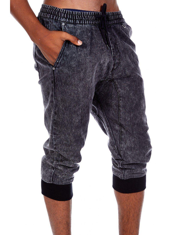 Mens Kayden K Elite Retro Combat Relaxed Slim Fit Jeans Capri ...