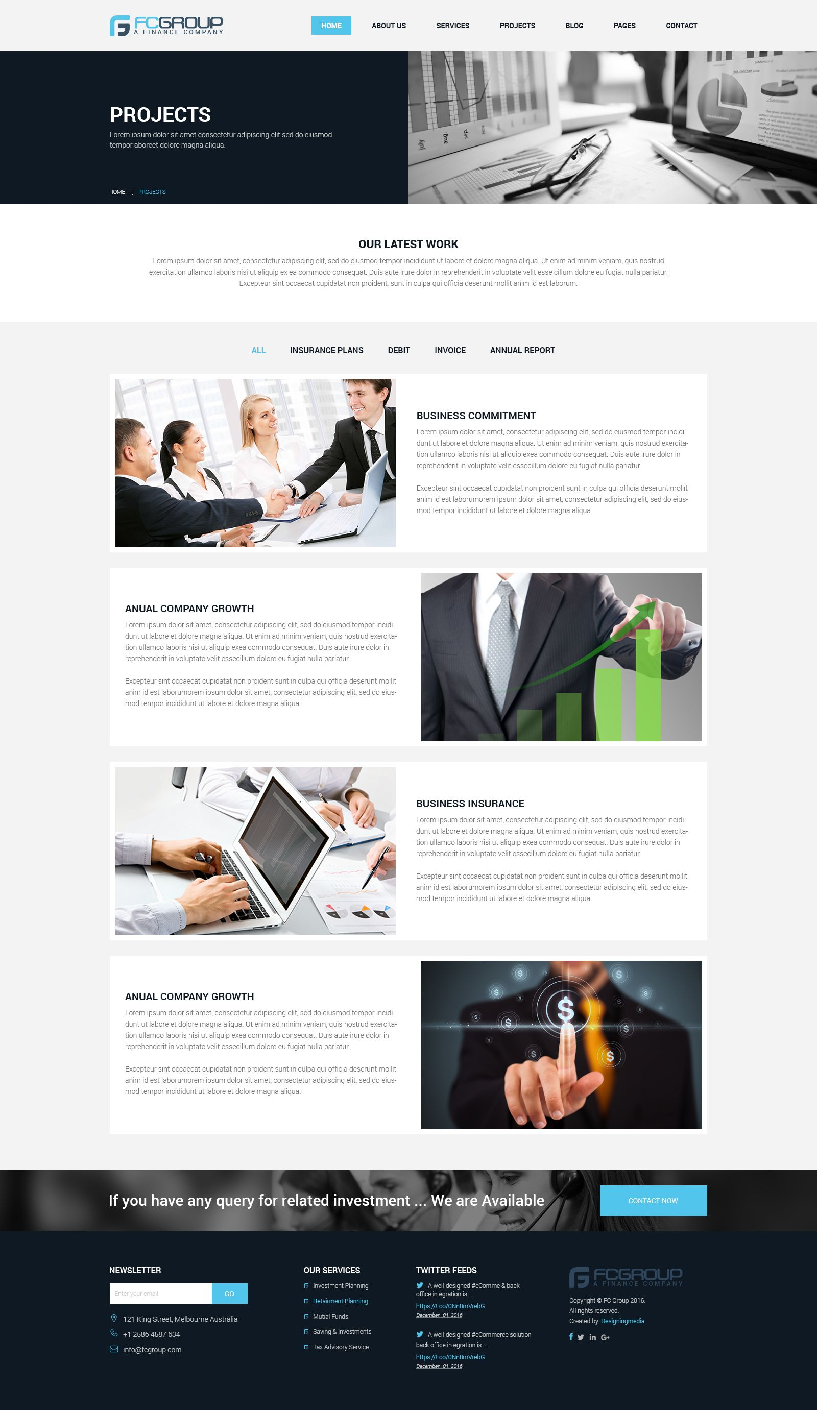 finance group multi purpose psd template corporate pinterest