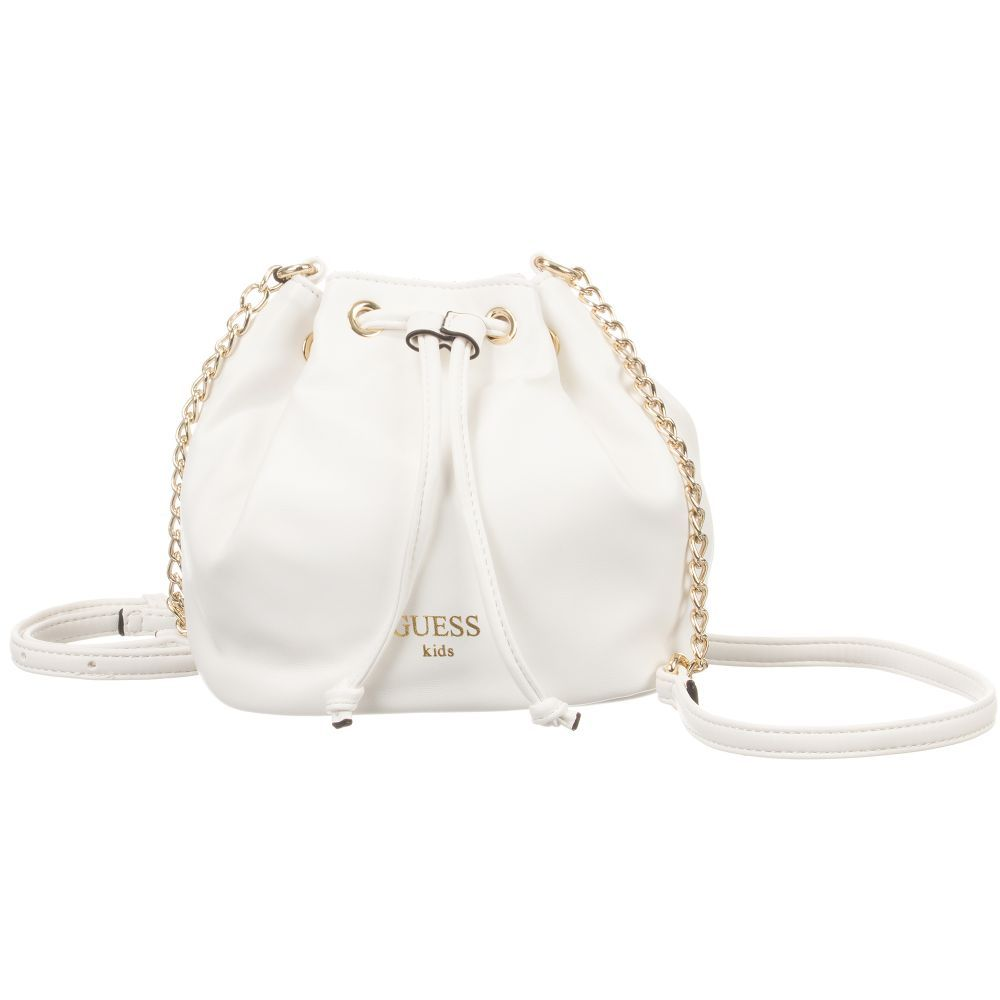 This Smart White Shoulder Bag By Guess Is Made In Eco