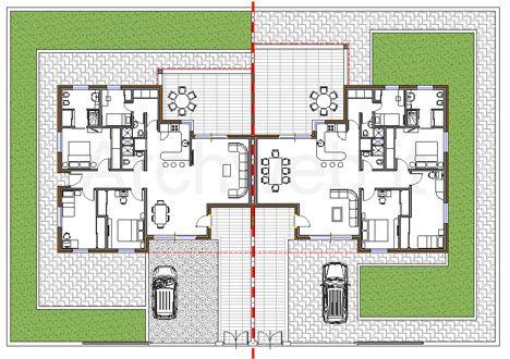 Residenze bi familiari dwg progetti scuola pinterest for Palazzine moderne