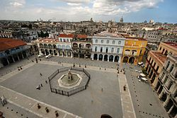 UNESCO declared Havana a World Heritage Site in 1982.  This lovely square is the lucky recipient of this declaration
