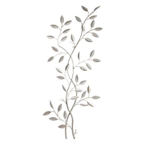 Arredo da parete vegetale in metallo 33 x 76 cm LAURIER