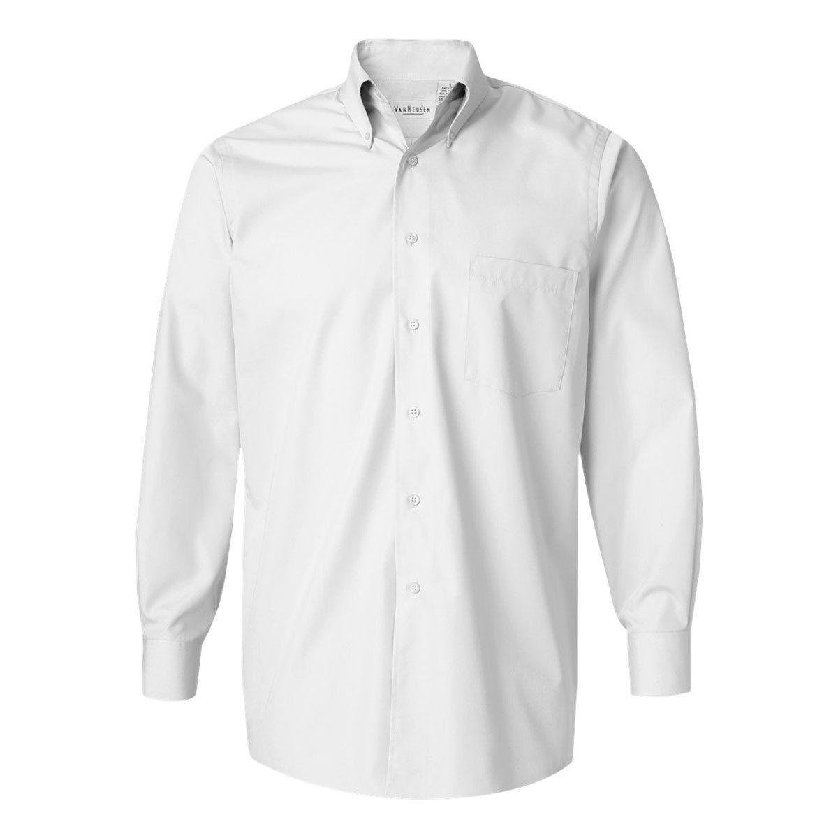 Van Heusen Mens White Silky Poplin Dress Shirt Pinterest Dress