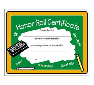 b honor roll certificate template - honor roll colorful certificate top 10 honor roll awards