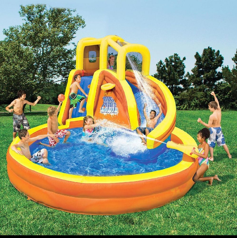 Commercial Grade Inflatable Water Slide Wet Dry Bounce