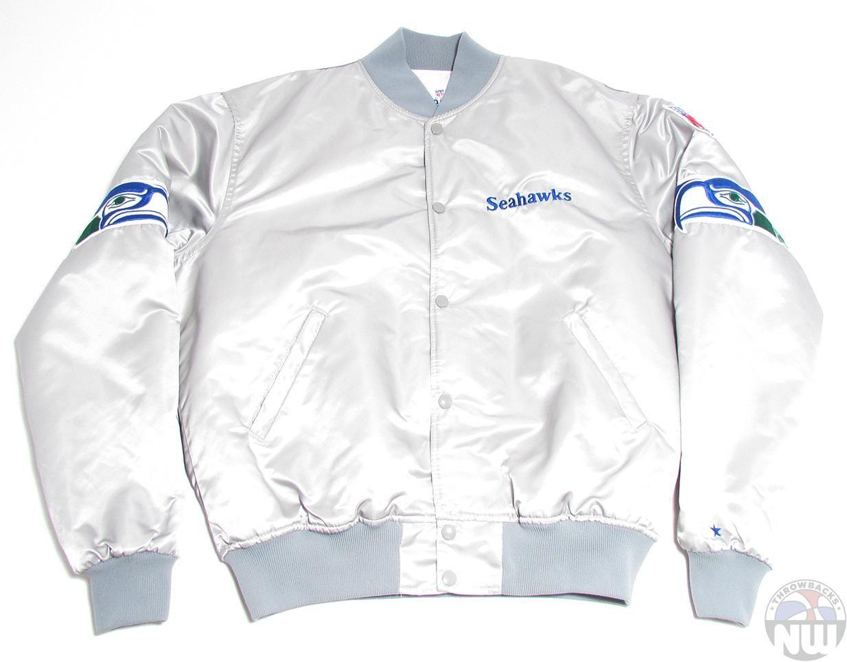 buy online 2a008 f1ee6 Retro Seattle Seahawks   Vintage Starter Jacket